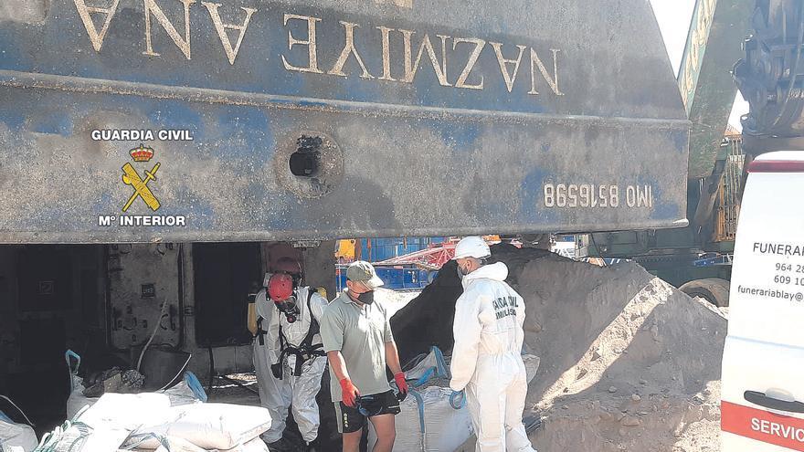 Encuentran al estibador dentro del buque 42 días después del vuelco