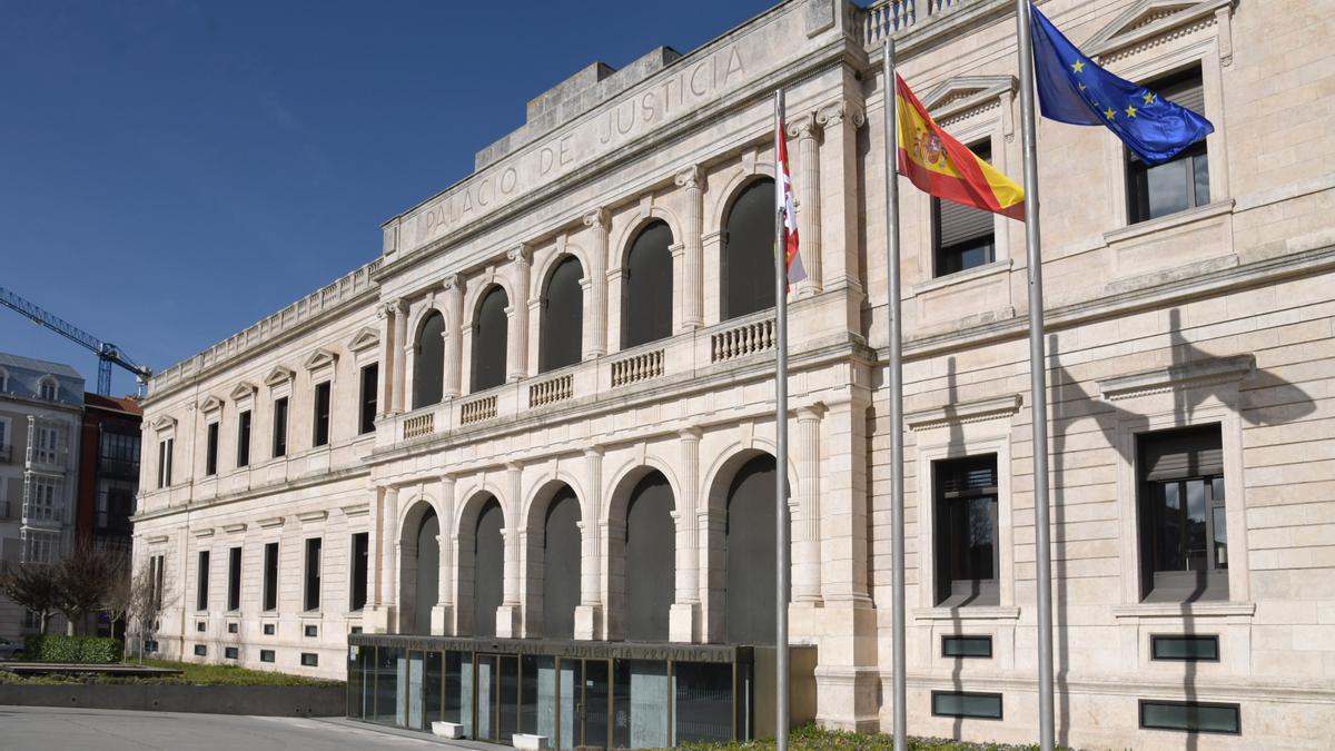 Fachada del Tribunal Superior de Justicia de Castilla y León.
