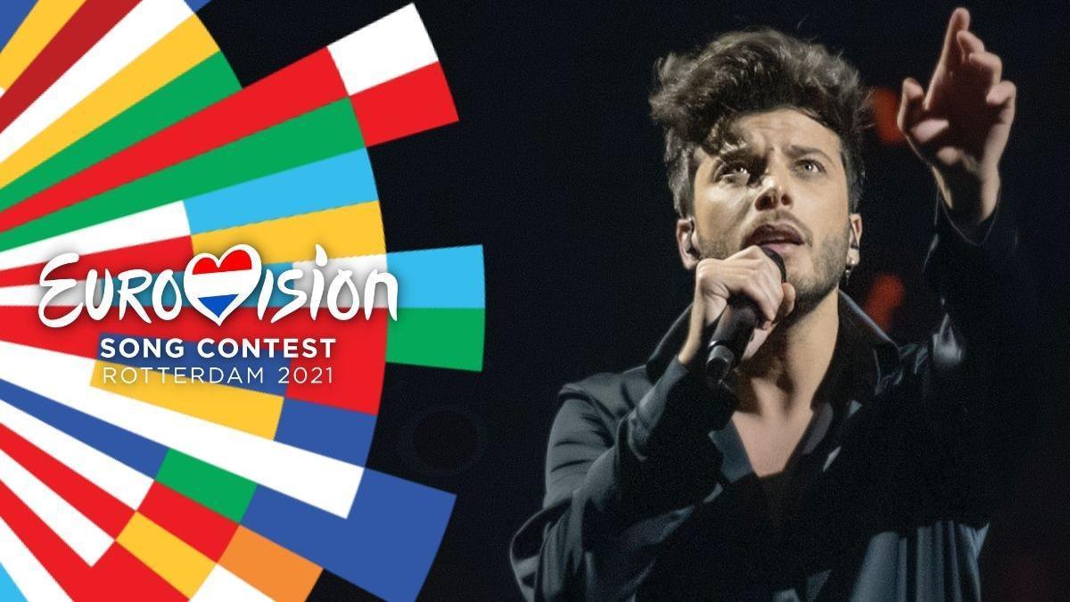 Blas sang on stage at Eurovision 2021