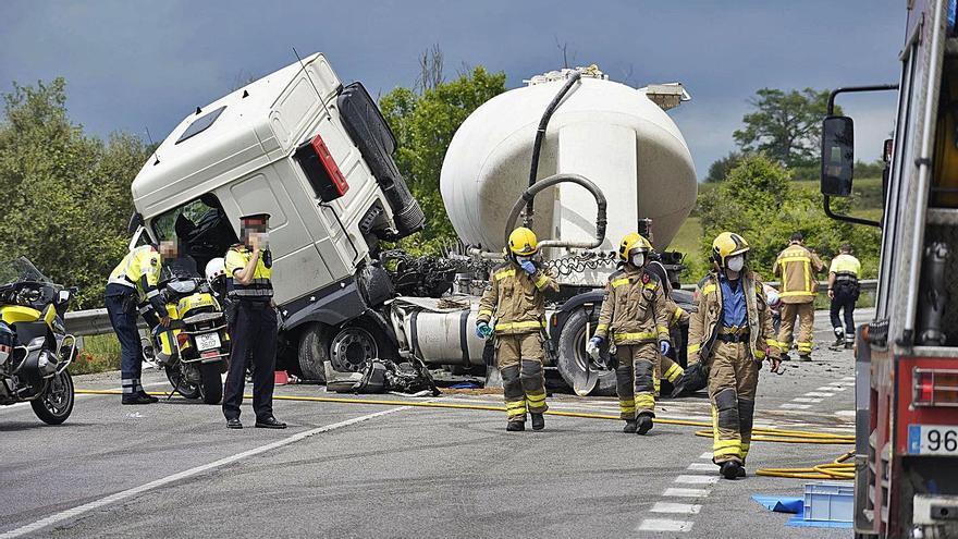Girona ja ha registrat el 80% dels morts d'accidents a les carreteres de tot el 2019