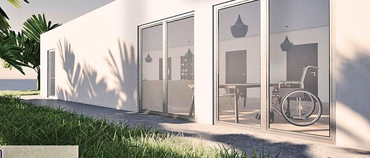 Simulación del exterior del futuro domicilio de Marcos Gómez.   C. M. N.