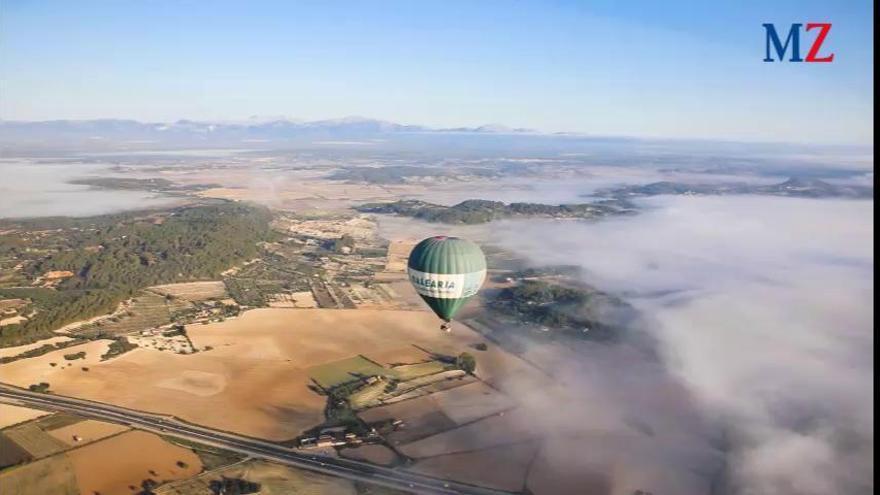 Vorgeschmack auf die EM: Im Heißluftballon über Mallorca