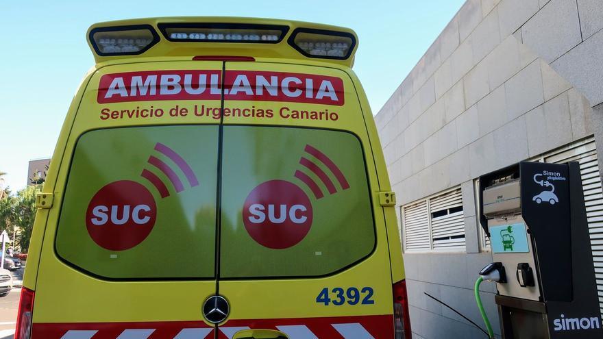Un motorista herido tras sufrir una caída en La Gomera