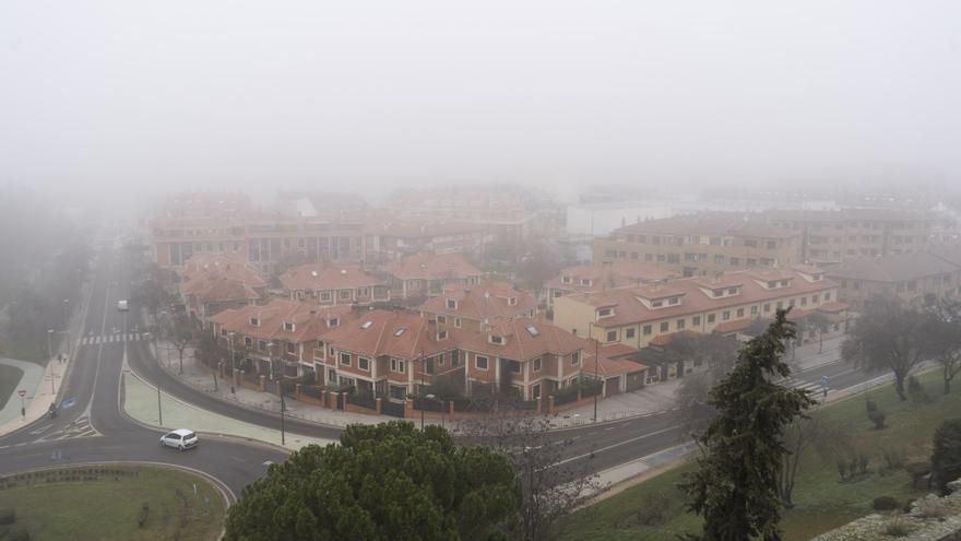 Aviso amarillo en Zamora por nieblas para mañana