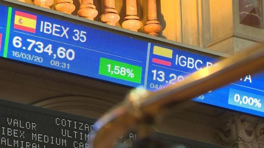 La borsa espanyola es recupera i tanca amb una pujada del 6,4%