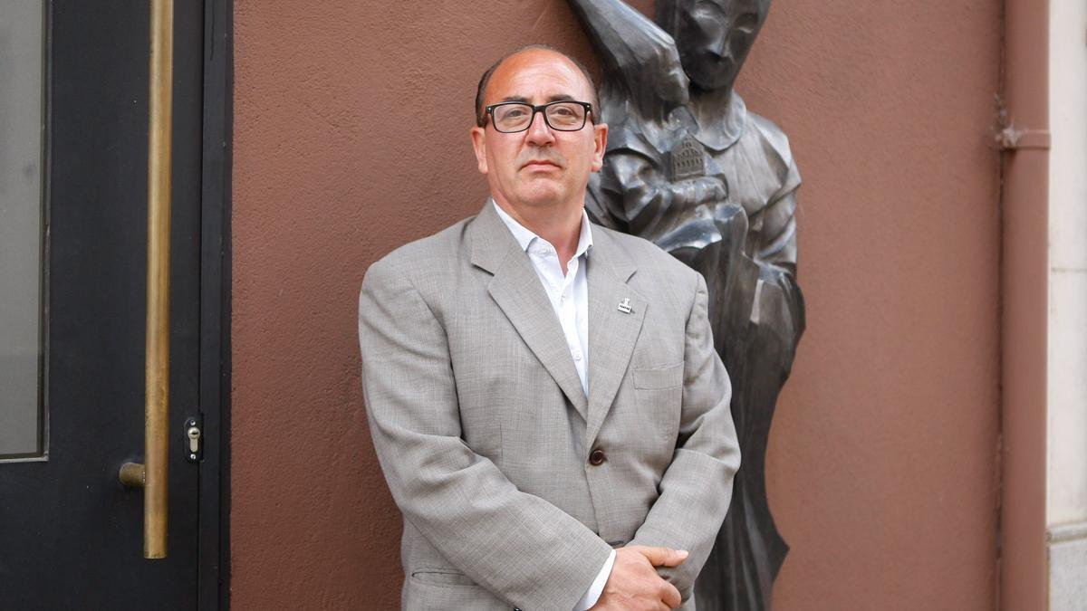 Graciliano Hernández, en la Casa del Cofrade el Santo Entierro