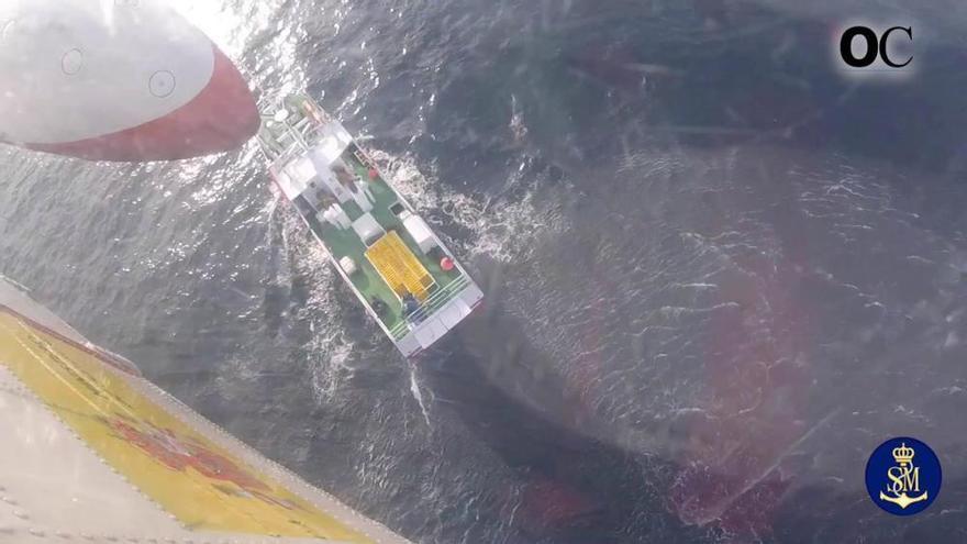 El espectacular rescate de Salvamento Marítimo desde los ojos de uno de sus tripulantes