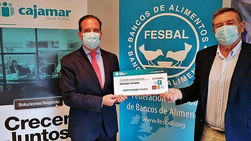 Empleados de Cajamar donan 17.000 euros para los bancos de alimentos
