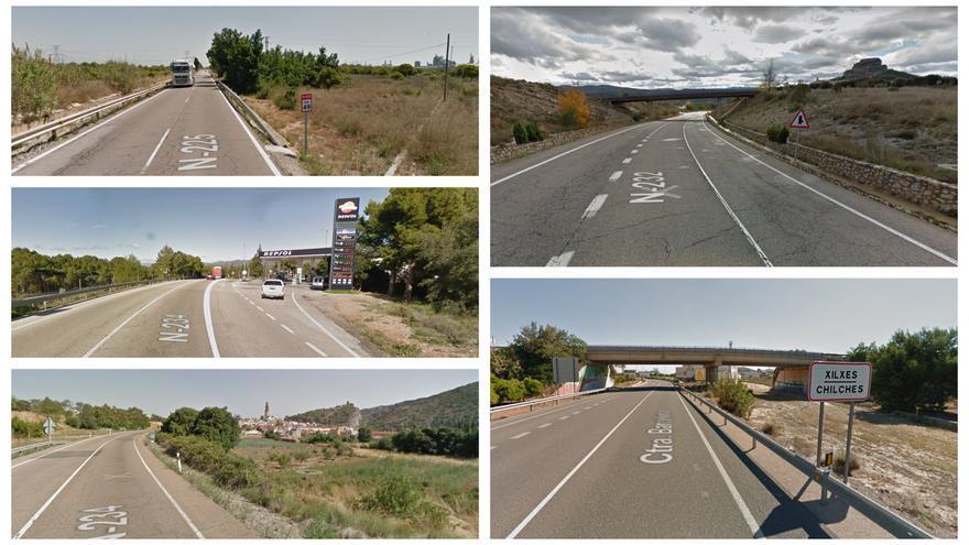 Los tramos de carretera más peligrosos de Castellón
