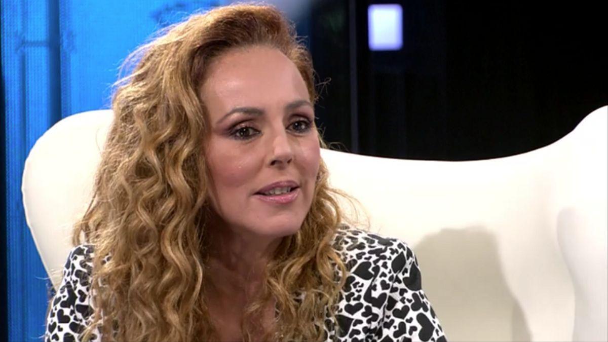 Rocío Carrasco, durante la entrevista en Telecinco.
