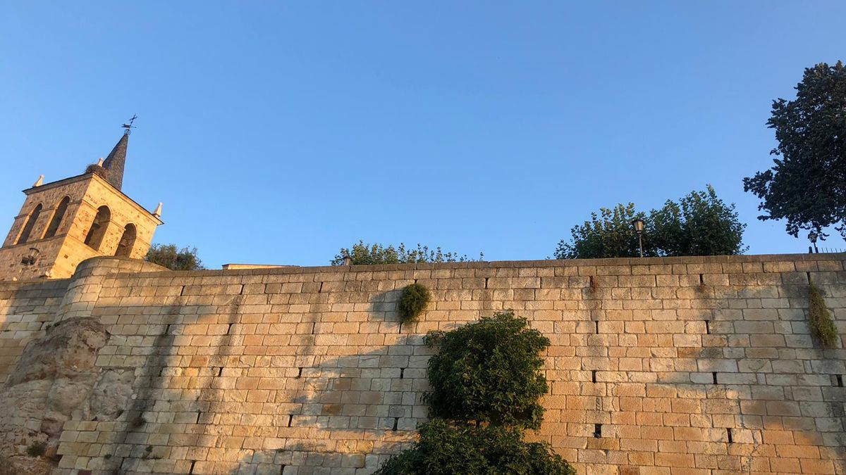 El cielo en Zamora a primera hora de esta mañana.