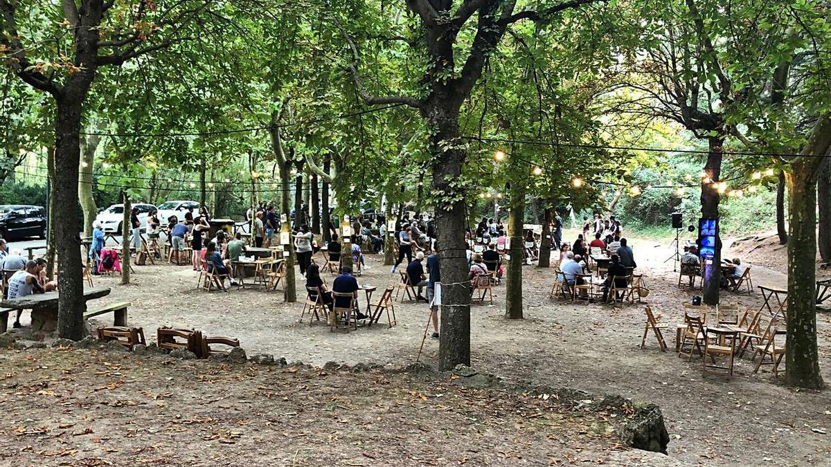 Actuació de Sound de secà, ahir al parc de la Mare de la Font de Solsona | ARXIU PARTICULAR