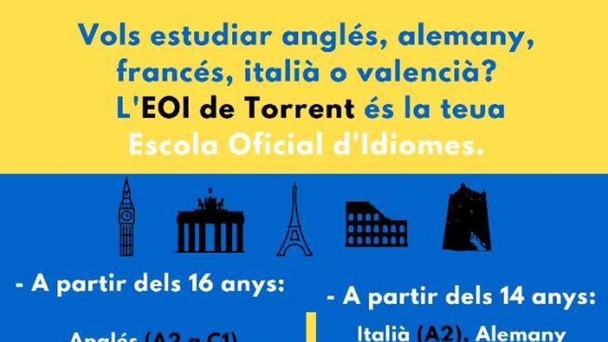 La EOI de Torrent amplia su oferta formativa para el próximo curso