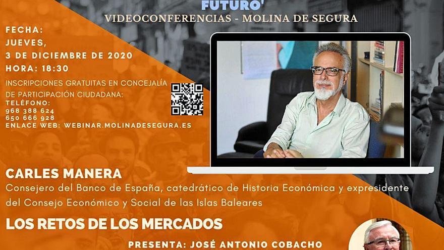 Carles Manera abre el telón mañana de las II jornadas online organizadas en Molina