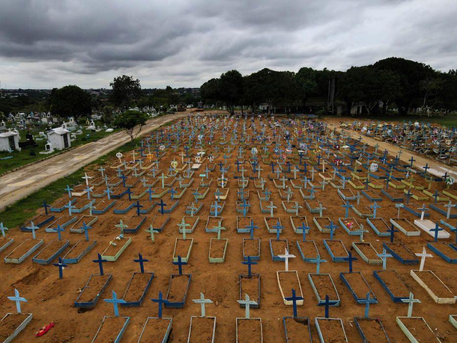 Vista aérea del cementerio de Manaus.