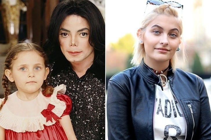 Paris Jackson, la hija de Michael Jackson. Tuvo dos más. Le gustaban mucho los niños.