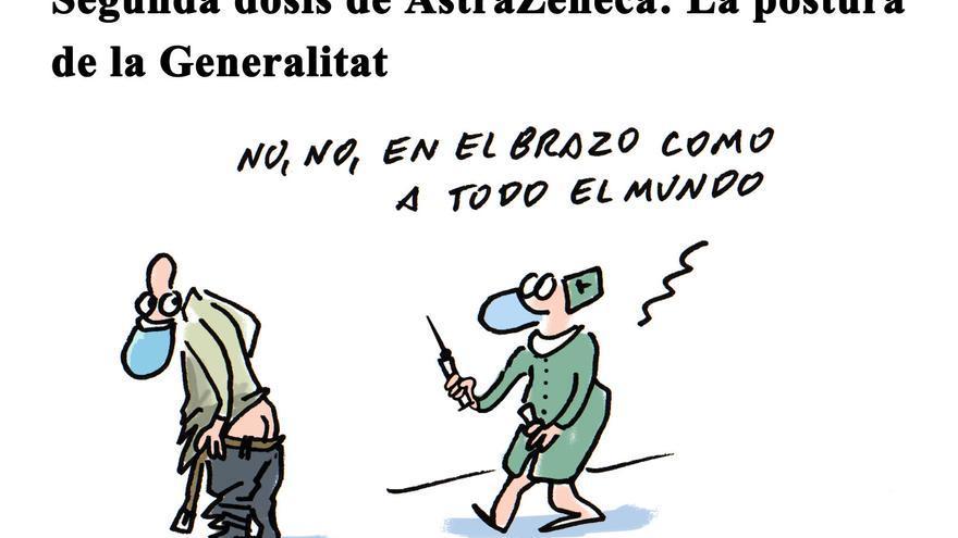 Segunda dosis de AstraZeneca: la postura de la Generalitat
