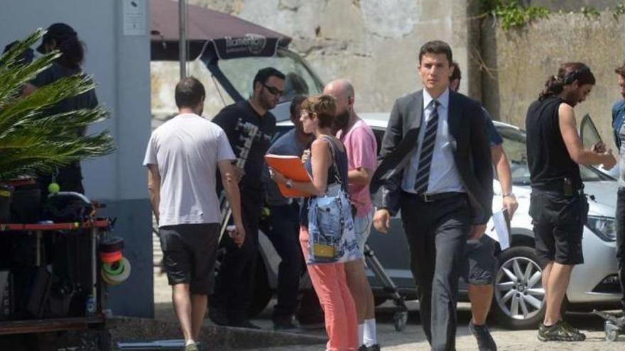 Vilagarcía, set de rodaje de la serie 'Vivir sin permiso'