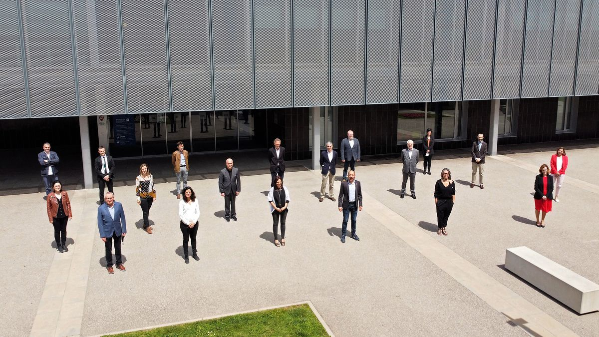 Participants en la presentació del projecte PECT PaBAGESS
