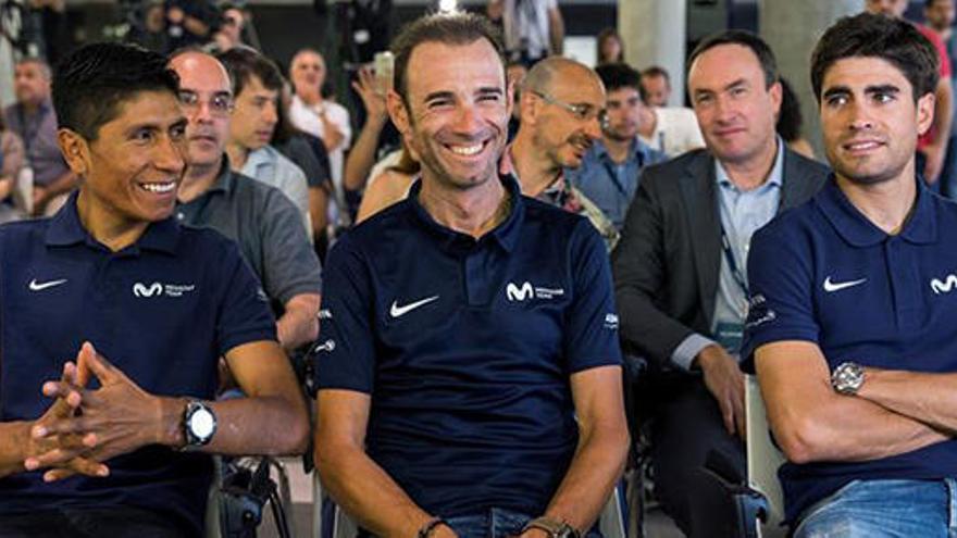 """Valverde acude al Tour """"relajado"""", pero """"no descarto nada"""""""