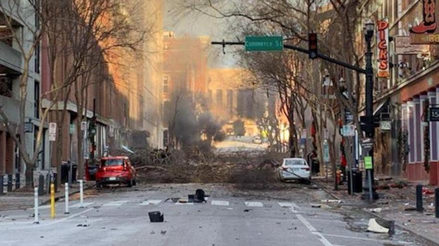 El FBI cree que el autor de la explosión de Nashville se suicidó en ella
