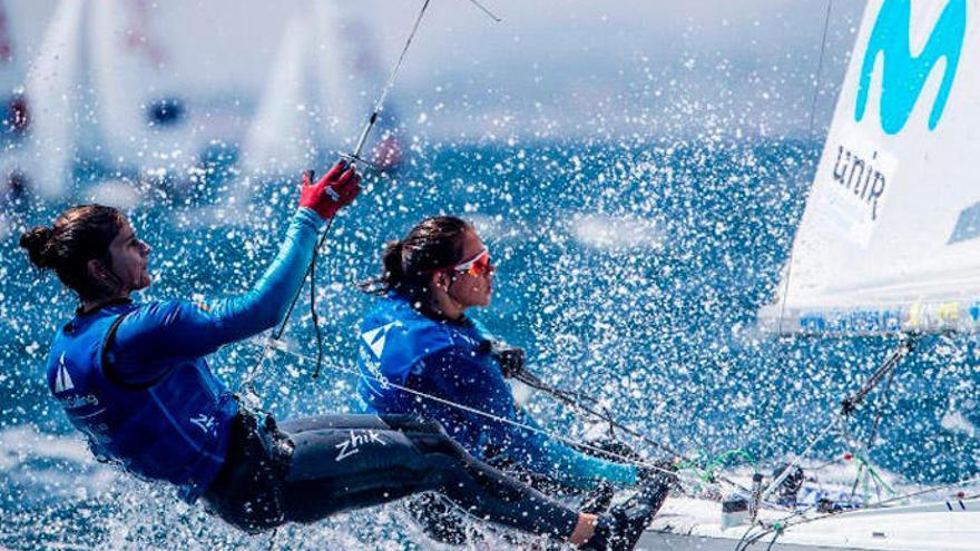 La navegante canaria Patricia Cantero, bronce en la Copa del Mundo de 470