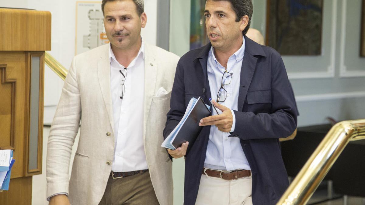 Alejandro Morant y Carlos Mazón en la Diputación de Alicante.