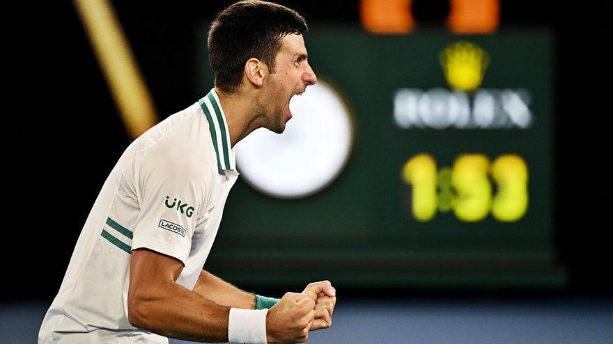 Djokovic aprieta en la carrera de los dioses