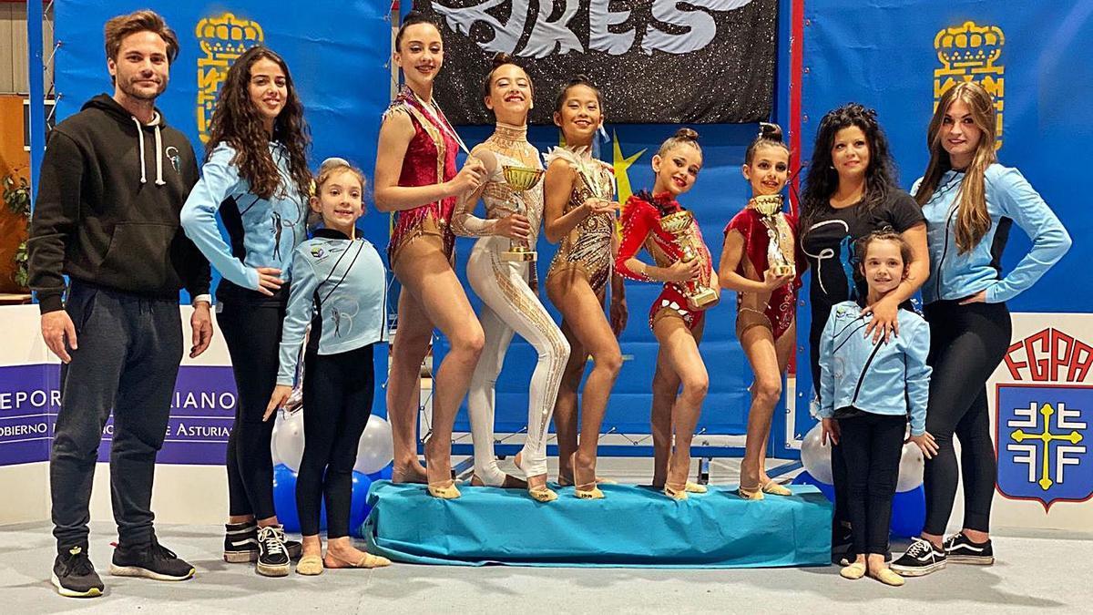 La gimnasia rítmica del Nalón triunfa en el Campeonato de Asturias | RÍTMICA ARES