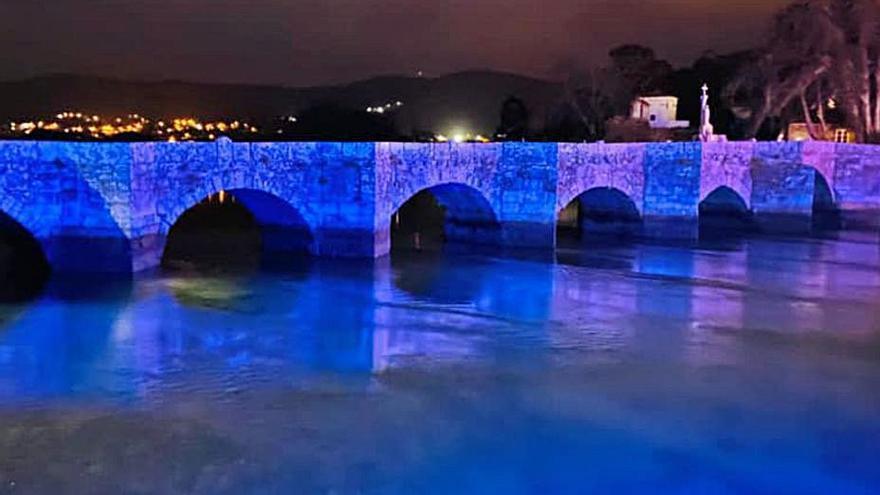 A ponte da Ramallosa iluminarase nas celebracións de efemérides