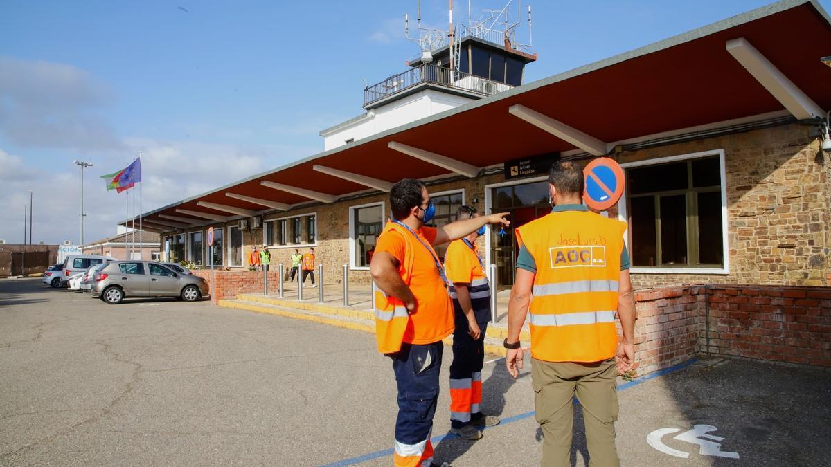 Inicio de las obras de la terminal del aeropuerto de Córdoba.