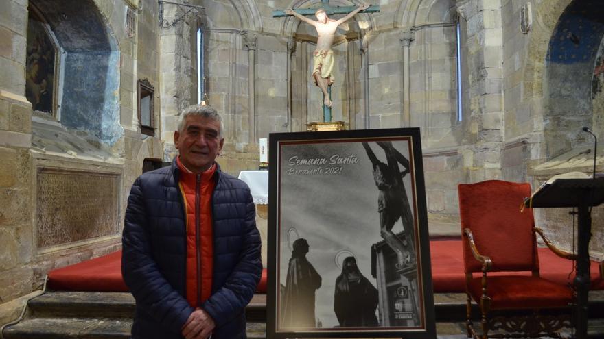 Semana Santa en Benavente 2021: una fotografía del paso del Cristo del Calvario ilustra el cartel