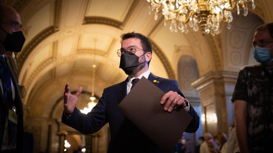 El Parlament vota la investidura de Pere Aragonès