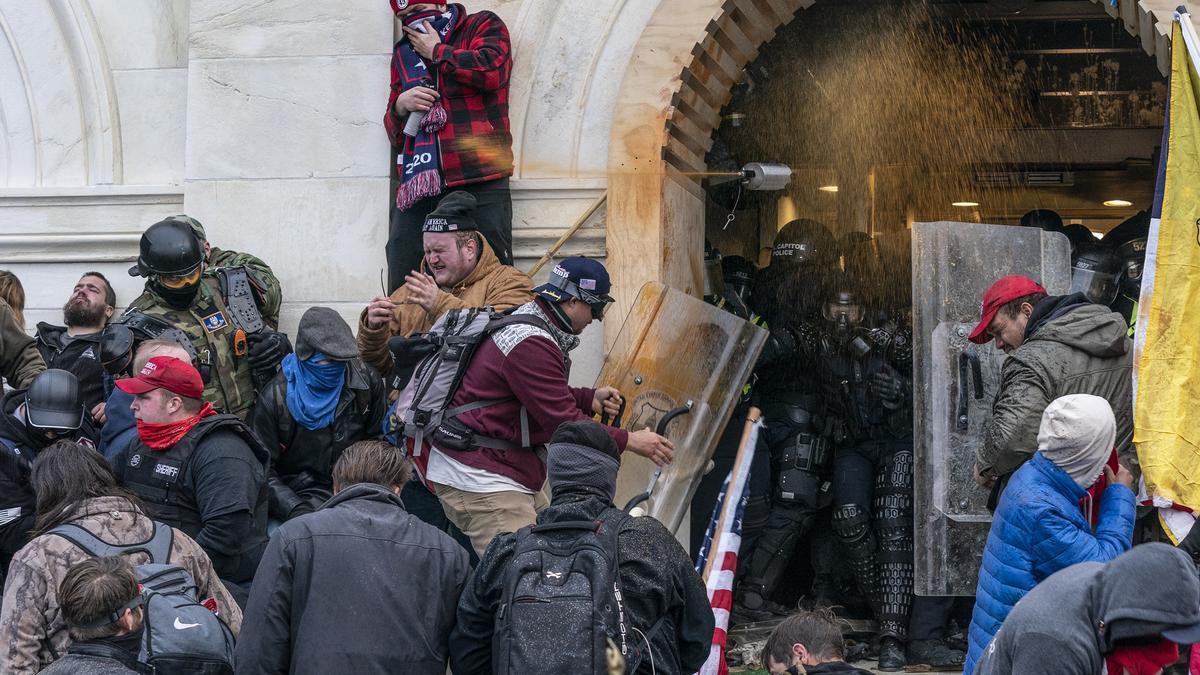 Una imagen del asalto al Capitolio.