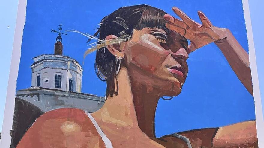 El joven artista Miguel Tinoco gana la segunda edición de 'Badajoz Pinta'