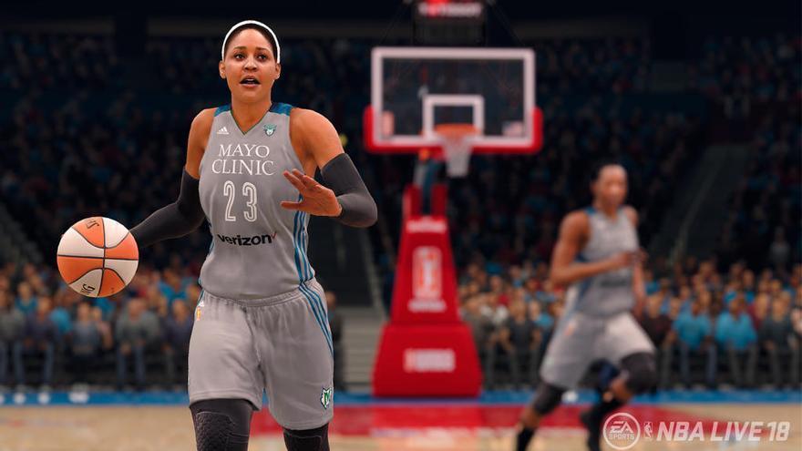 Las chicas asaltan 'NBA Live 18'