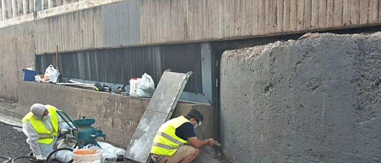 Restauración de la torreta en  el túnel de Blanqueries. levante-emv