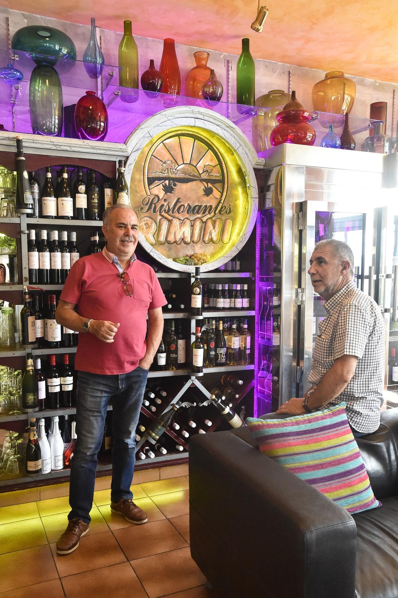 José Cerván y Juan Lozano, propietarios restaurante Rimini