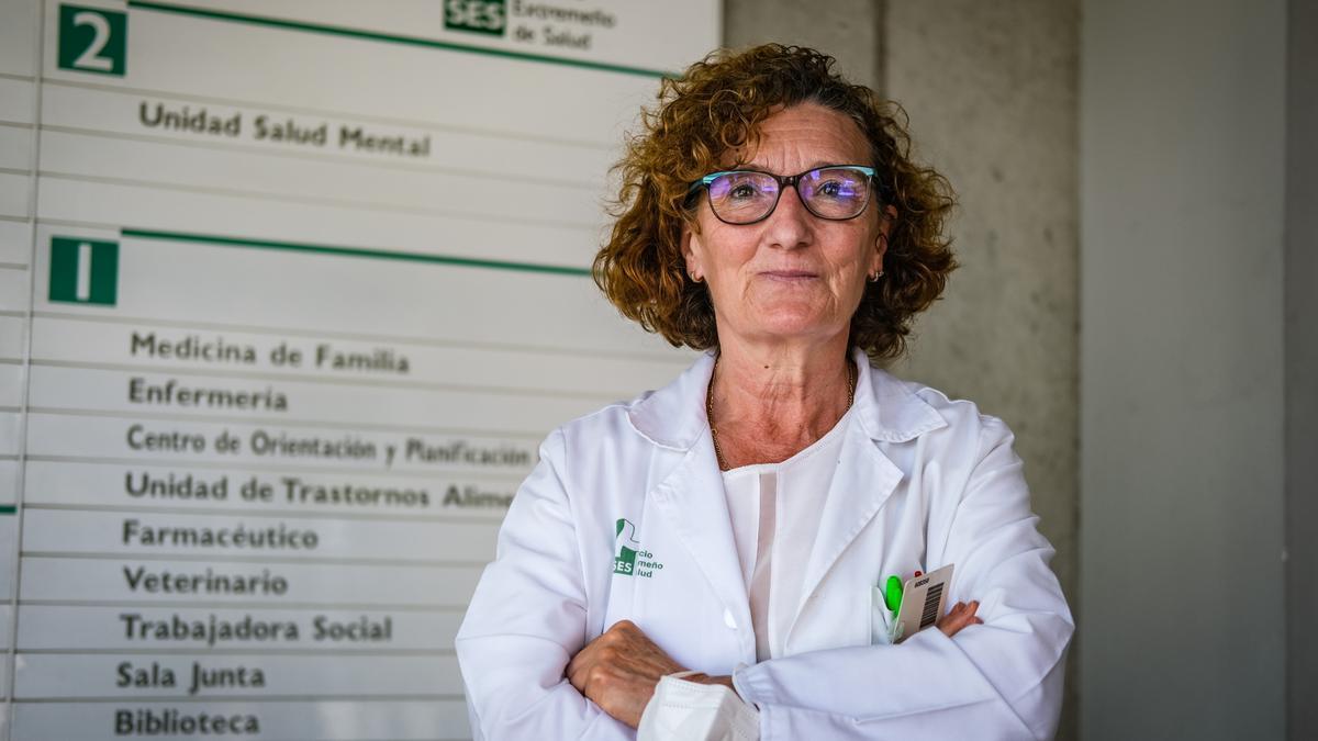 Angustias García Herráiz, psiquiatra responsable de la Unidad de Trastornos de la Conducta Alimentaria en Badajoz.