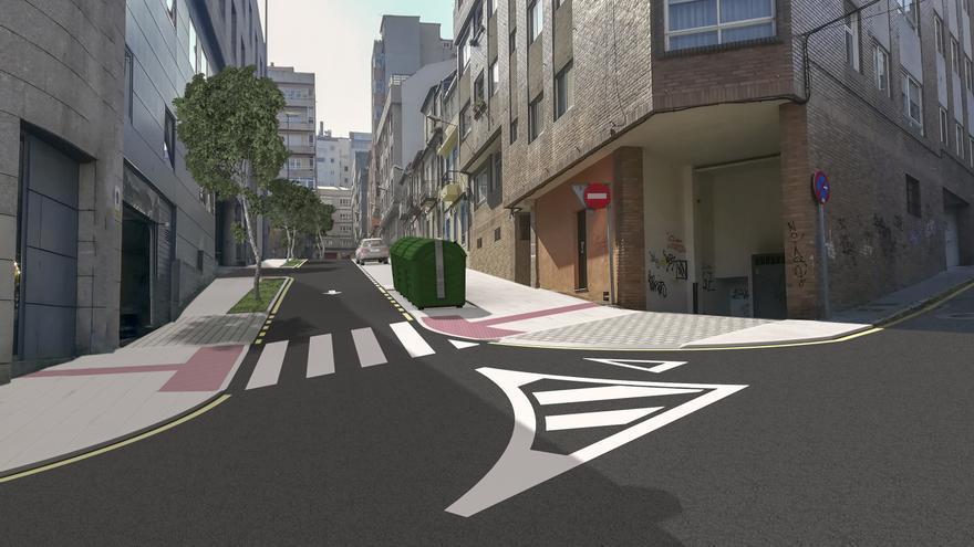 Menos aparcamiento y un cambio estético radical: así será la 'nueva' calle del entorno de Fátima en Vigo