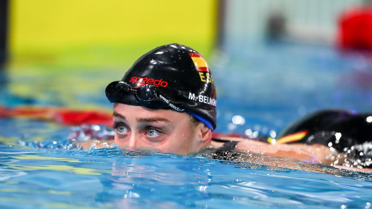 Mireia Belmonte, en la piscina.