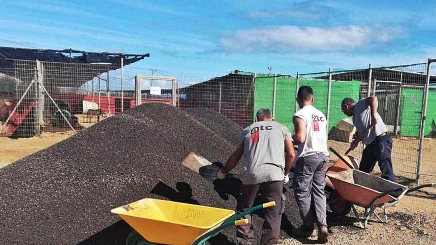Obras de mejora en el refugio de animales de Tierra Blanca para evitar inundaciones