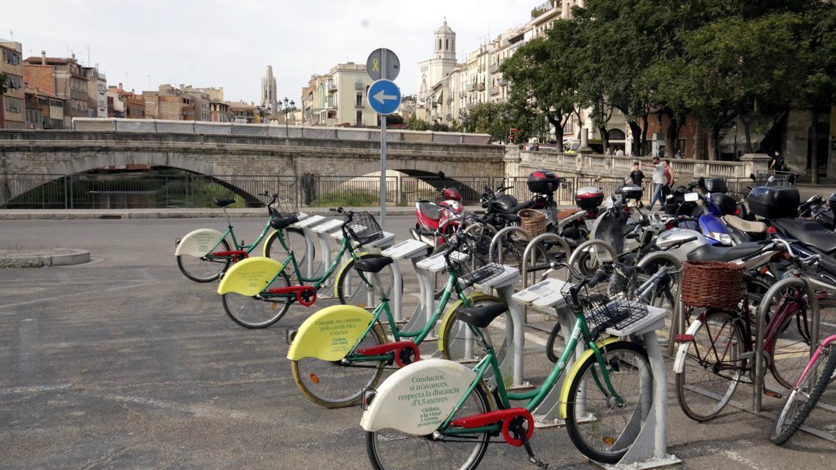 Pla general de l'aparcament de Girocleta que hi ha a la plaça Catalunya de Girona