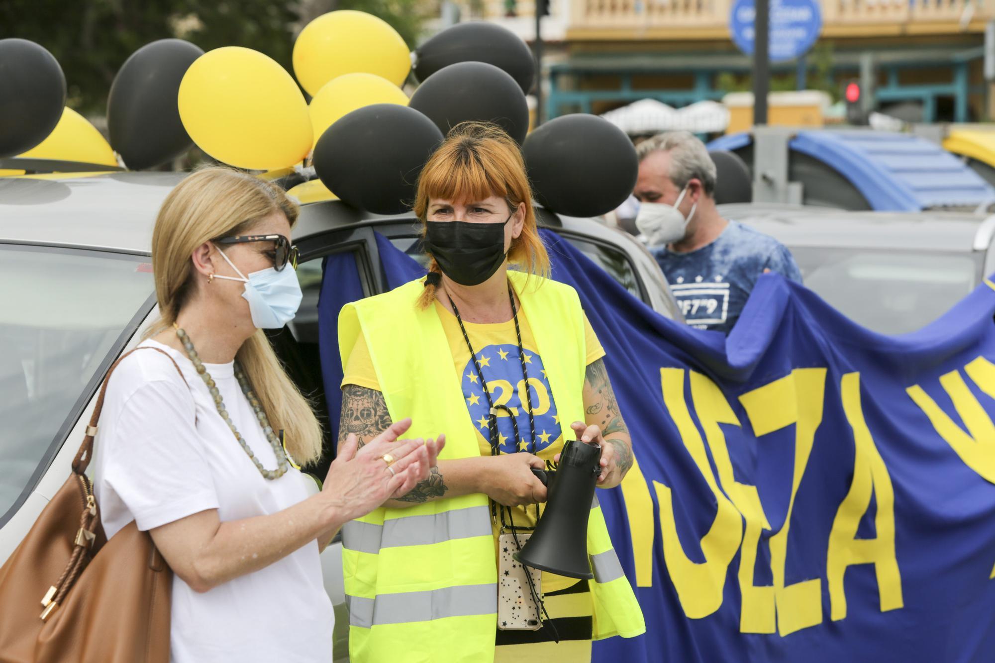 Las imágenes de la manifestación de los interinos en València
