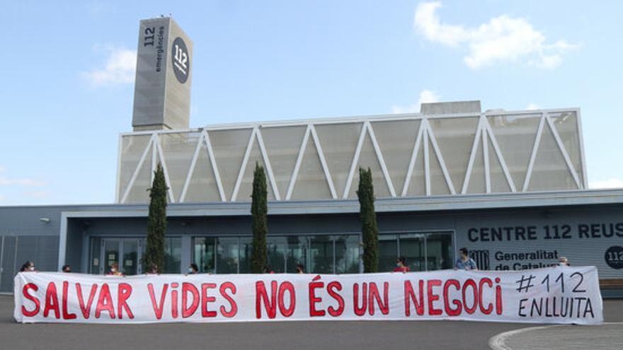 Els treballadors del 112 comencen una vaga indefinida