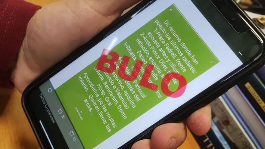 Un bulo sobre la colocación de radares se viraliza en los smartphones de los vecinos de Castelló