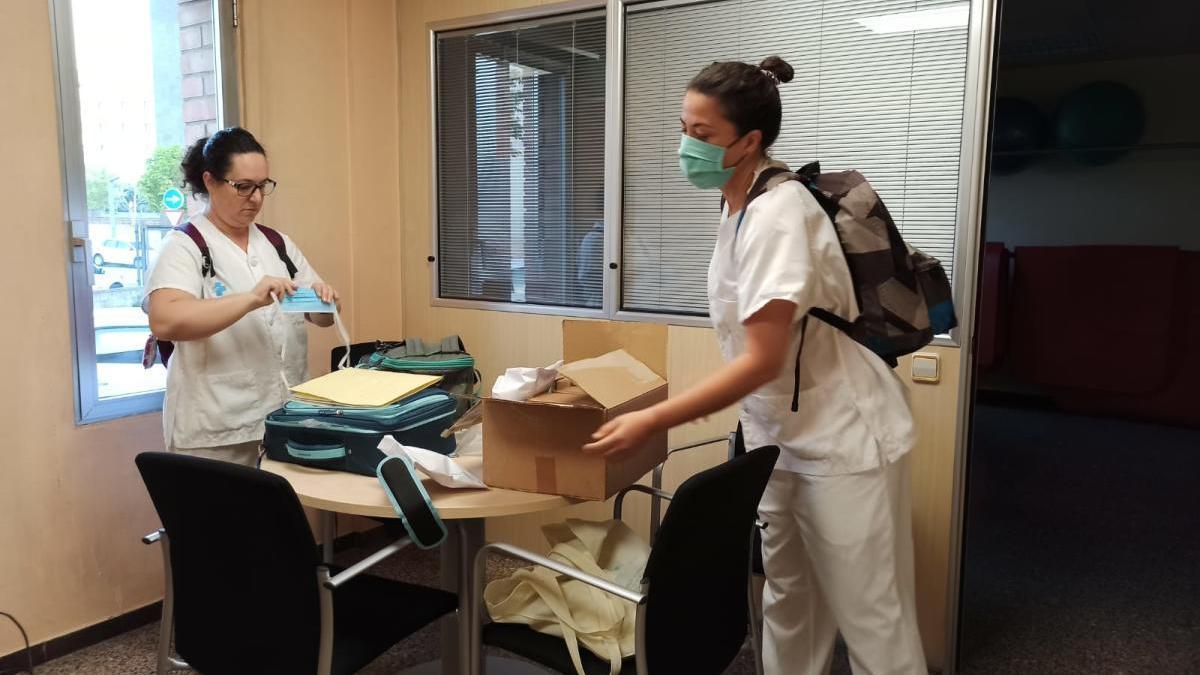 Part de l'equip, marxant a fer PCR