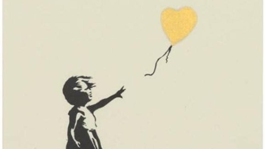 Venden el grabado de la 'Niña con globo' de Banksy por casi 450.000 euros