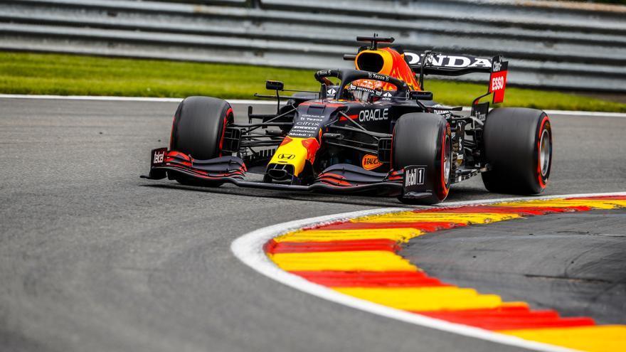 Verstappen vuela en los segundos libres del Gran Premio de Bélgica