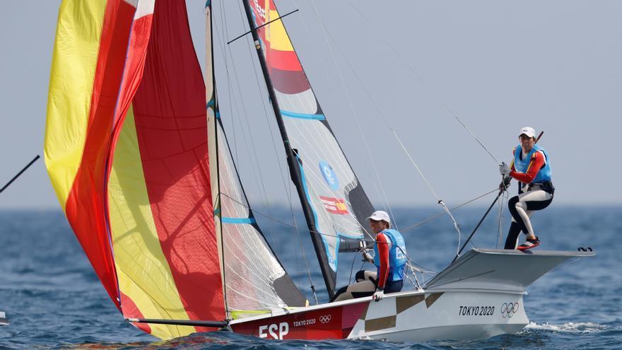 Aplazadas al martes las regatas de vela de los Juegos por falta de viento